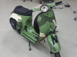 Vespa nach der Restauration